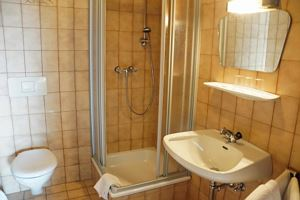 Single room, shower or bath, toilet